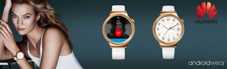 Huawei Elegant Watch para Android e iOS - Correa de Cuero Blanca