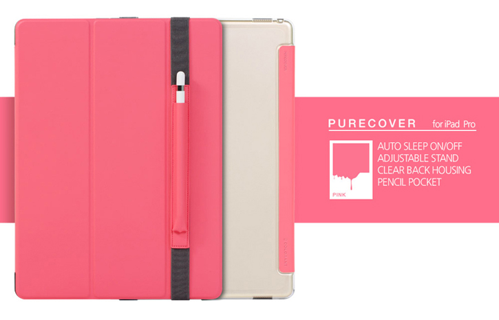 Patchworks PureCover iPad Pro Case with Apple Pencil Holder - Pink