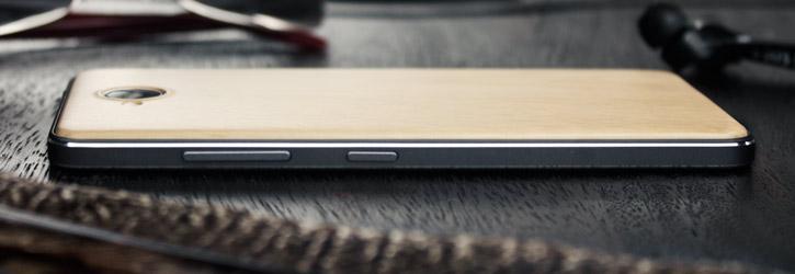 Mozo Microsoft Lumia 650 PU Back Cover Case - Light Wood