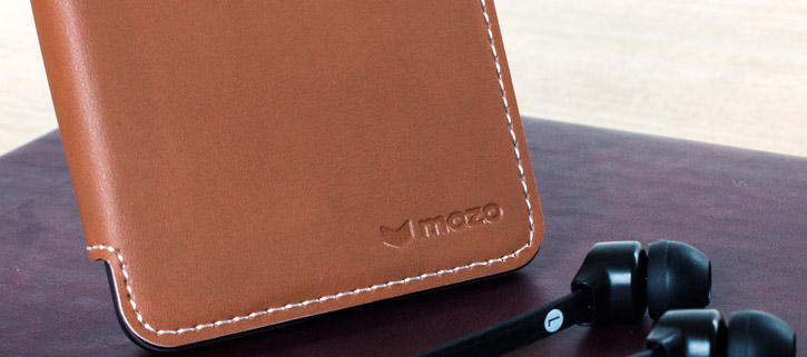 Mozo Microsoft Lumia 650 Leather-Style Flip Cover - Cognac