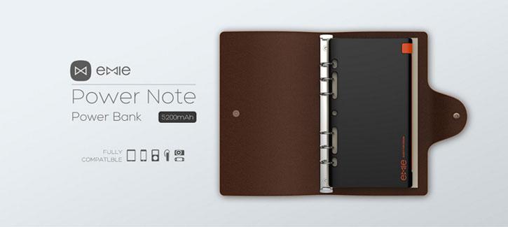Emie Power Note 5,200mAh Ultra Slim Lightning Power Bank - Black