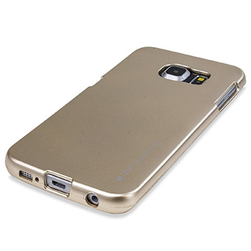 Mercury iJelly Samsung Galaxy S6 Edge Plus Gel Case - Metallic Gold