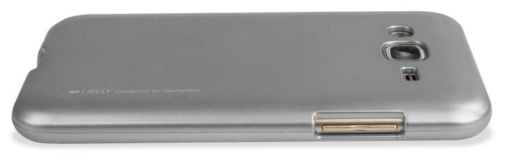 Mercury Goospery iJelly Samsung Galaxy J5 Gel Case - Metallic Silver