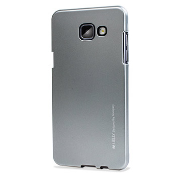 Mercury Goospery iJelly Samsung Galaxy A7 Gel Case - Metallic Silver
