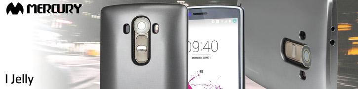 Mercury Goospery iJelly LG G4 Gel Case - Metallic Silver