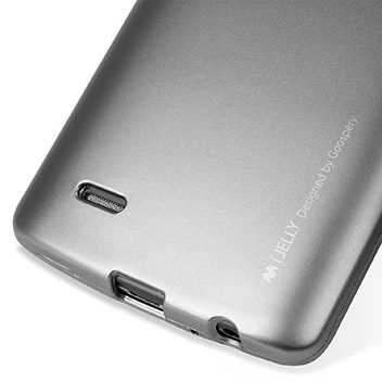Mercury Goospery iJelly LG G3 Gel Case - Metallic Silver