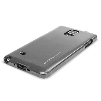 Mercury iJelly Samsung Galaxy Note 4 Gel Case - Metallic Silver