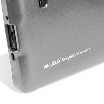 Coque Samsung Galaxy Note 4 Mercury Goospery iJelly Gel Argent Métal