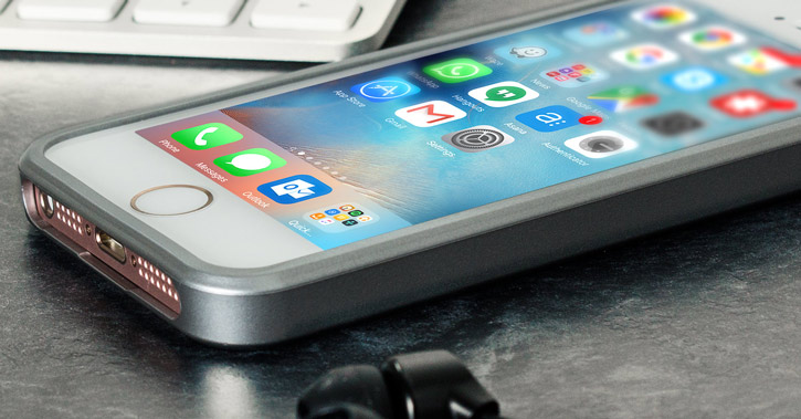 Mercury Goospery iJelly iPhone SE Gel Case - Metallic Grey