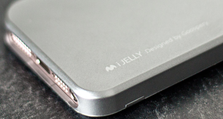 Mercury Goospery iJelly iPhone SE Gel Case - Metallic Grey