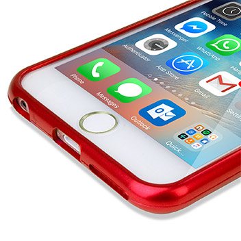 Mercury iJelly iPhone 6S Plus / 6 Plus Gel Case - Metallic Red