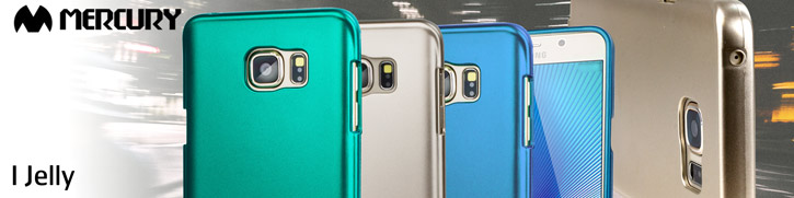 Mercury iJelly Samsung Galaxy Note 5 Gel Case - Metallic Blue