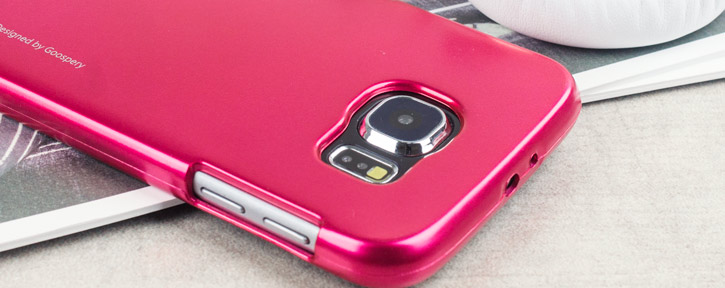 mercury metallic silicone finish hard case samsung galaxy s6 hot pink headphone