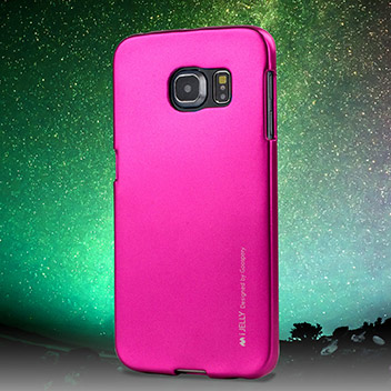 Mercury iJelly Samsung Galaxy S6 Edge Gel Case - Metallic Pink