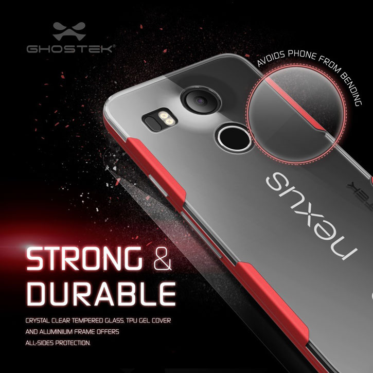 Ghostek Cloak Nexus 5X Tough Case - Clear / Red