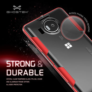 Ghostek Cloak Microsoft Lumia 950 XL Tough Case - Clear / Red