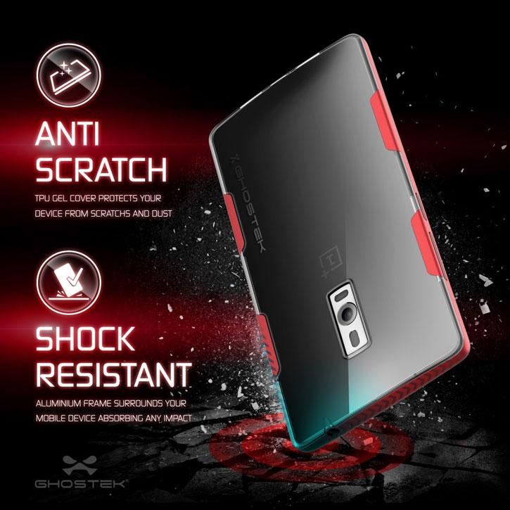 Ghostek Cloak OnePlus 2 Tough Case - Clear / Red