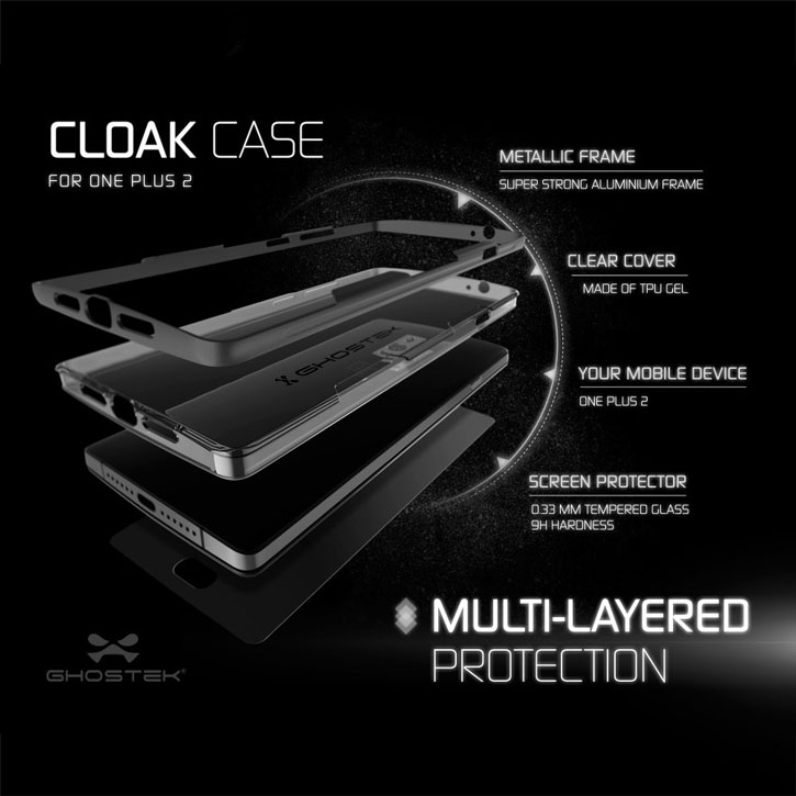 Ghostek Cloak OnePlus 2 Tough Case - Clear / Black