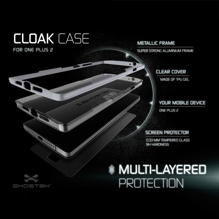 Ghostek Cloak OnePlus 2 Tough Case - Clear / Silver