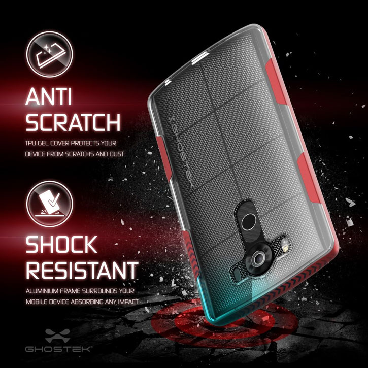 Ghostek Cloak LG V10 Tough Case - Clear / Red