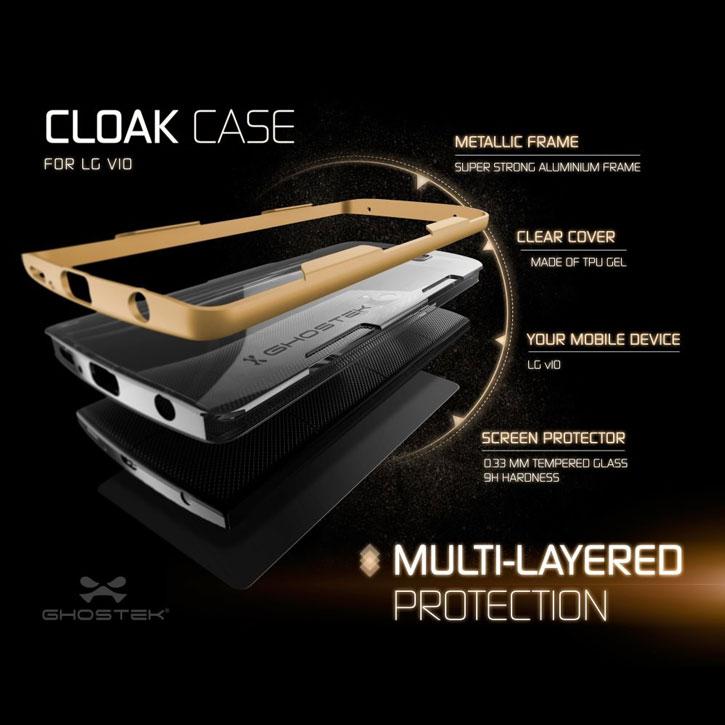 Ghostek Cloak LG V10 Tough Case - Clear / Gold