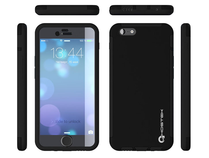 Ghostek Blitz iPhone 6S Plus / 6 Plus Rubberised Case - Black