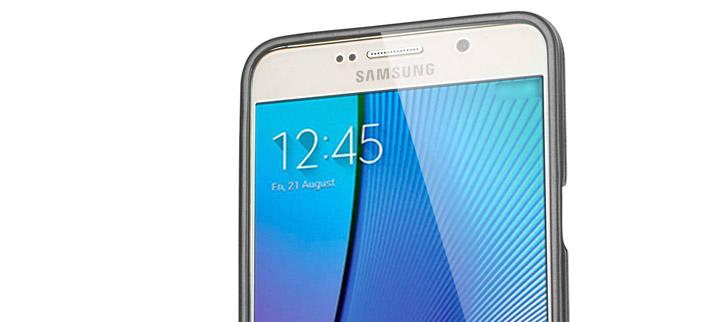 Mercury iJelly Samsung Galaxy Note 5 Gel Case - Metallic Grey