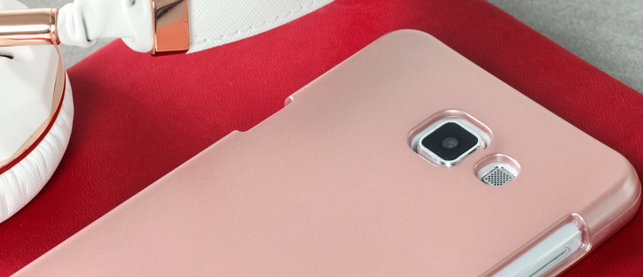 Mercury Metallic Silicone Finish Hard Case Samsung Galaxy A7 Rose Gold