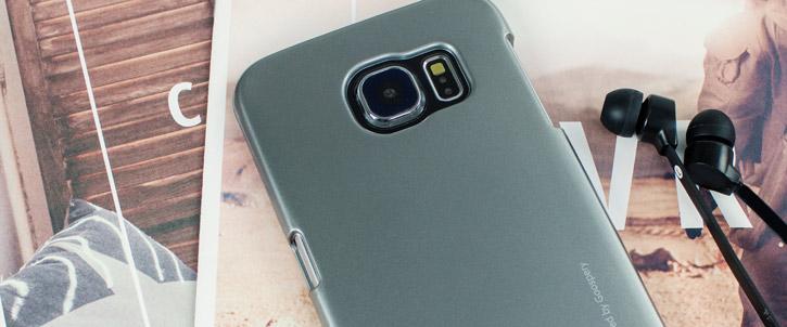 Mercury Goospery iJelly Samsung Galaxy S6 Gel Case - Metallic Grey