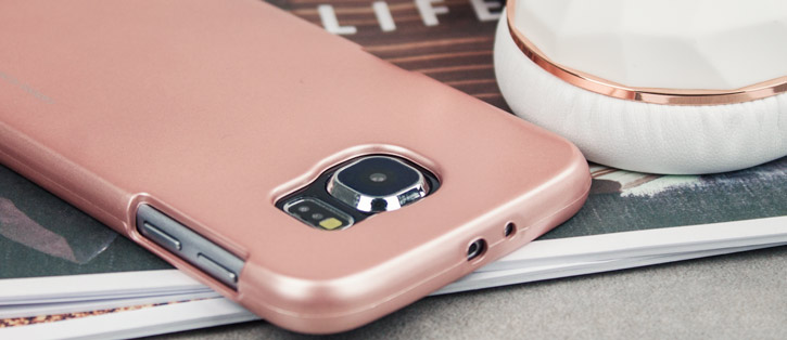 Mercury Goospery iJelly Samsung Galaxy S6 Gel Case - Metallic Rose