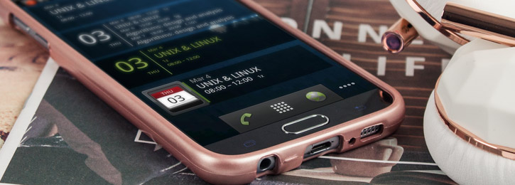 Mercury Goospery iJelly Samsung Galaxy S6 Gel Case - Metallic Rose