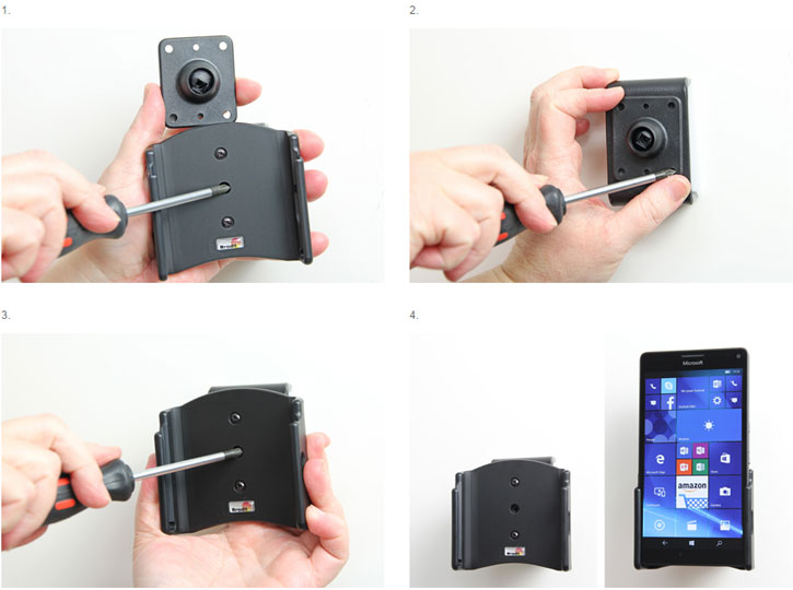 Brodit Passive Microsoft Lumia 950 XL In-Car Holder with Tilt Swivel