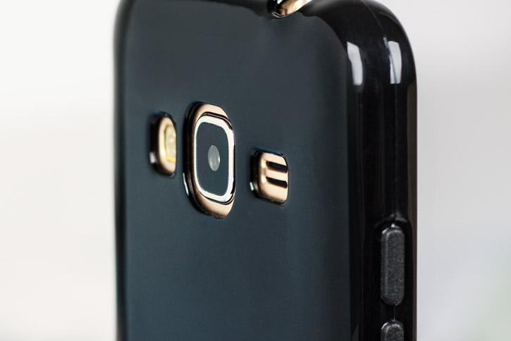 FlexiShield Samsung Galaxy J3 2016 Gel Case - Smoke Black