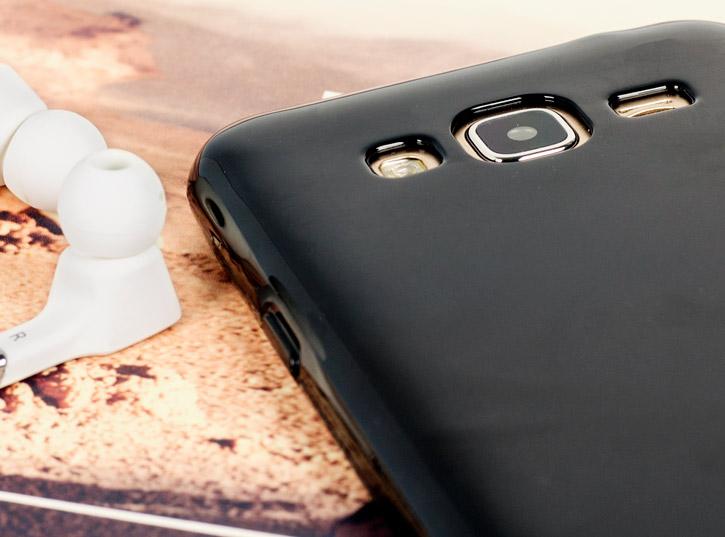 FlexiShield Samsung Galaxy J3 Gel Case - Smoke Black