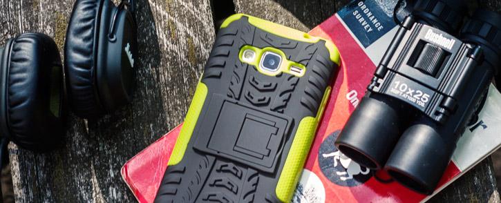 ArmourDillo Samsung Galaxy J3 2016 Protective Case - Green / Black