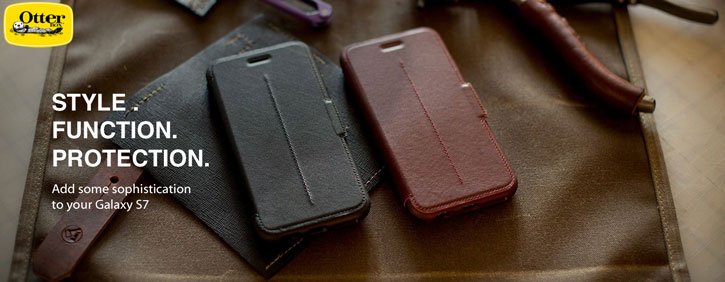 OtterBox Strada Series Samsungs Galaxy S7 Leather Case - Black