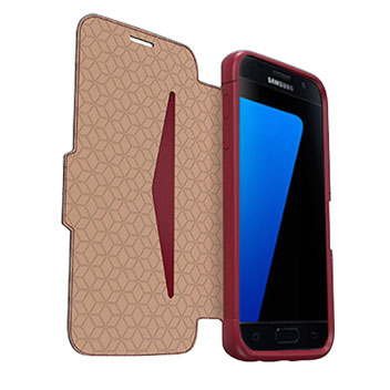 OtterBox Strada Series Samsungs Galaxy S7 Leather Case - Red