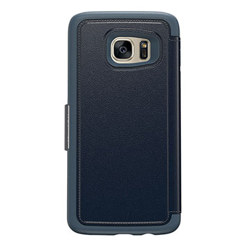 OtterBox Strada Series Samsung Galaxy S7 Edge Leather Case - Blue