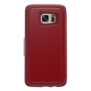 OtterBox Strada Series Samsung Galaxy S7 Edge Leather Case - Red