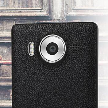 Mozo Microsoft Lumia 950 Wireless Charging Back Cover - Black Rim