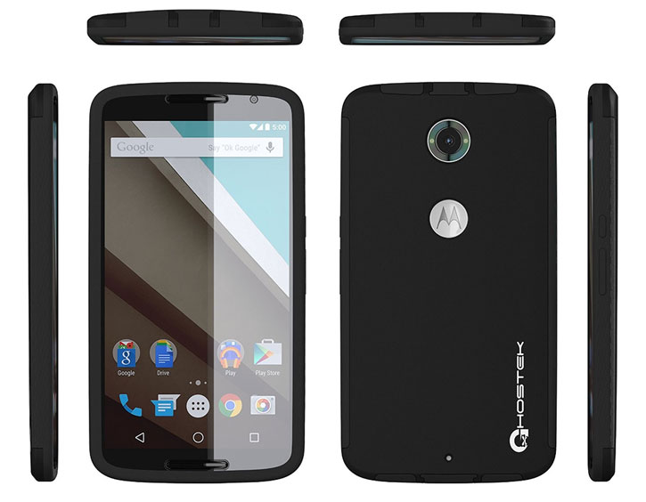 Ghostek Blitz Nexus 6 Rubberised Case - Black