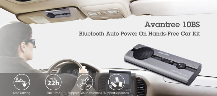 Avantree 10BP Bluetooth Hands-Free Visor Car Kit