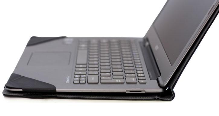 Executive Real Leather Microsoft Surface Book Folio Case - Black