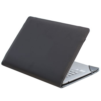 Executive Real Leather Microsoft Surface Book Folio Case - Black