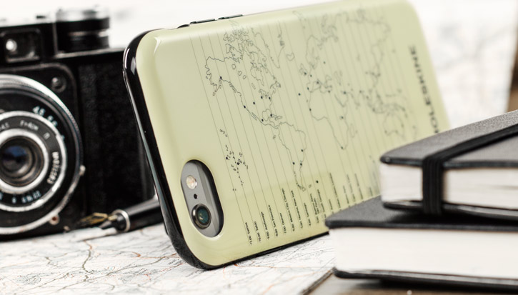 Moleskine Travel Collection World Map iPhone 6S / 6 Hard Case