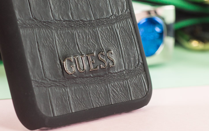Guess Croc Effect iPhone 6S / 6 Designer Shell Case - Black