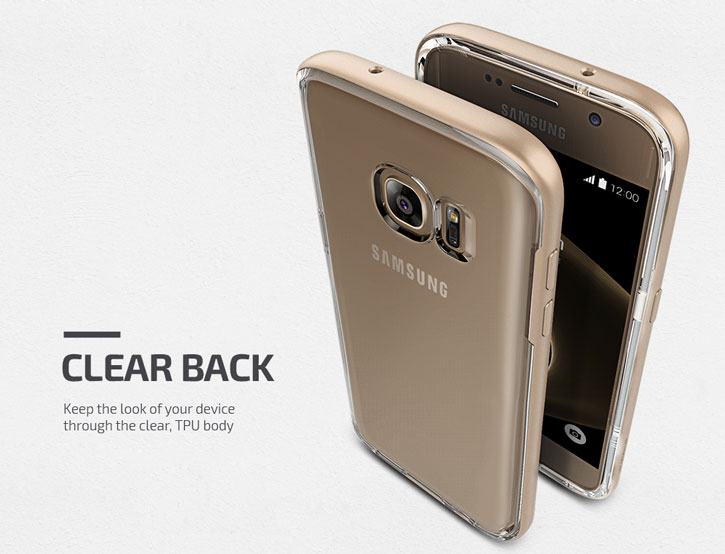 VRS Design Crystal Bumper Samsung Galaxy S7 Case - Shine Gold