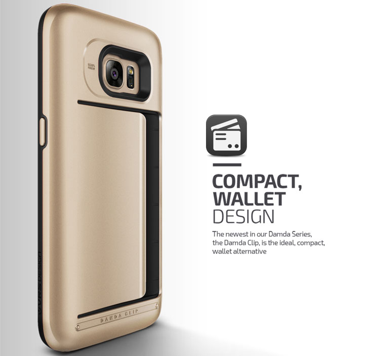 Verus Damda Clip Samsung Galaxy S7 Case - Shine Gold