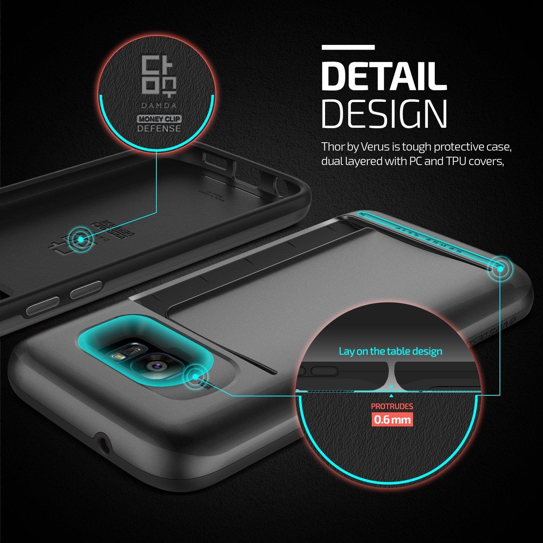 Verus Damda Clip Samsung Galaxy S7 Edge Case - Steel Silver
