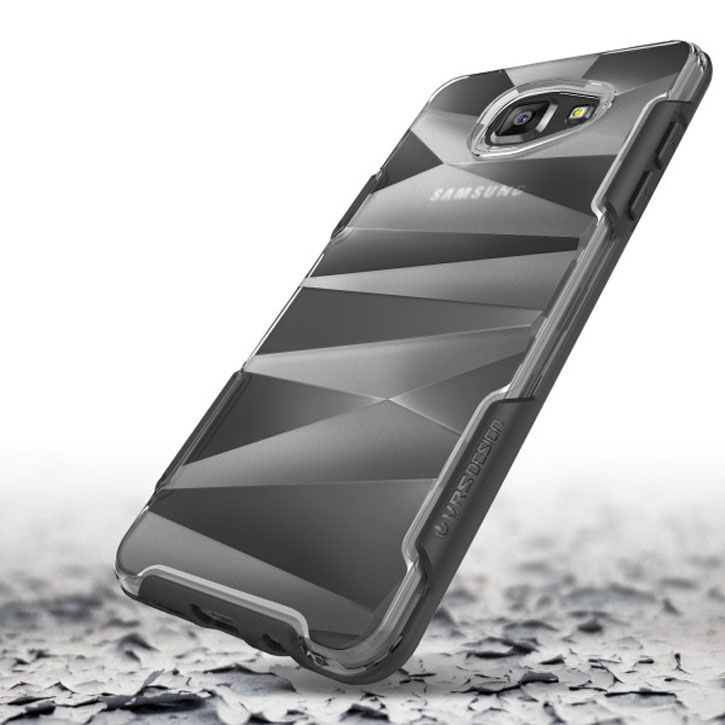 VRS Design Shine Guard Samsung Galaxy A7 2016 Case - Black / Clear